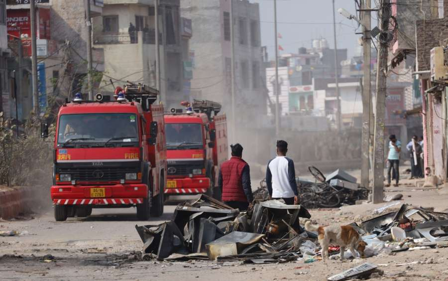 New Delhi: A view of Northeast Delhi's Karawal Nagar after the riots, on Feb 26, 2020. (Photo: Bidesh Manna/IANS) by .