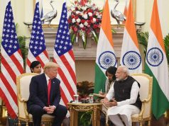 New Delhi: Prime Minister Narendra Modi meets US President Donald Trump at the Hyderabad House in New Delhi on Feb 25, 2020. (Photo: IANS/PIB) by .