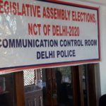 Caption: A view of Delhi Legislative Assembly elections, Communication Control Room of Delhi Police. (Photo: Sanjeev Kumar Singh Chauhan/IANS) by .