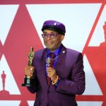 """LOS ANGELES, Feb. 25, 2019 (Xinhua) -- Spike Lee, winner of the Best Adapted Screenplay award for """"BlacKkKlansman"""", poses in the press room during the 91st Academy Awards at the Dolby Theater in Los Angeles, the United States, on Feb. 24, 2019. (Xinhua/Li Ying/IANS) by ."""