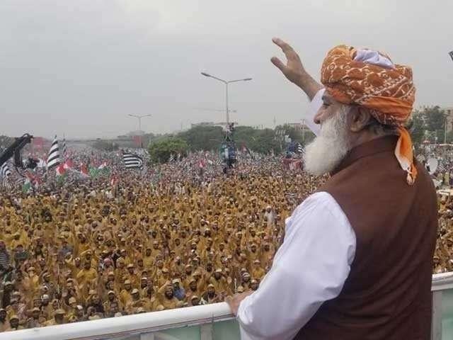 Jamiat Ulema-i-Islam-Fazl (JUI-F) chief Maulana Fazlur Rehman. by .