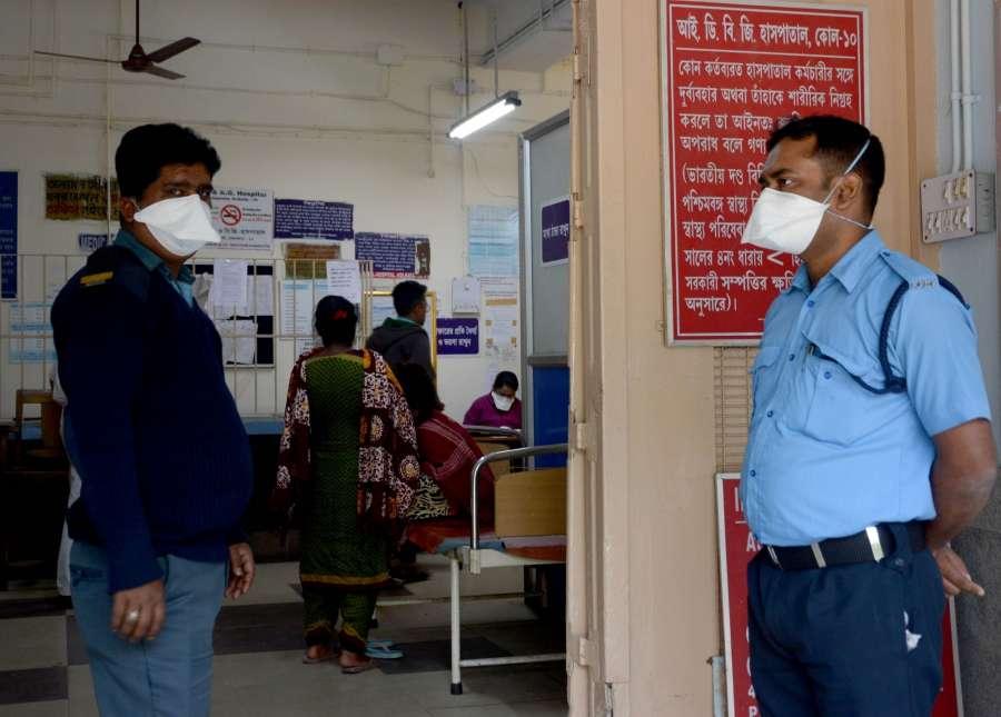 Kolkata: People wear masks as a precautionary measure against the novel coronavirus, in Kolkata on Feb 4, 2020. (Photo: Kuntal Chakrabarty/IANS) by .