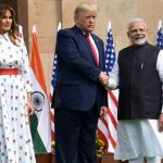 New Delhi: Prime Minister Narendra Modi receives US President Donald Trump and First Lady Melania Trump at the Hyderabad House in New Delhi on Feb 25, 2020. (Photo: IANS/PIB) by .