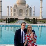 It was love in the air as Ivanka Trump, in a Proenza Schouler floral printed dress, took a stroll at the Taj Mahal with her husband Jared Kushner on Monday. by .