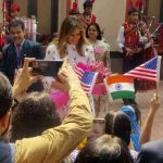 New Delhi: US First Lady Melania Trump interacts with students during her visit to Sarvodaya school in Delhi's Moti Bagh area to witness Delhi government run schools' happiness curriculum, on Feb 25, 2020. (Photo: IANS) by .