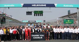 MELBOURNE, March 17, 2019 (Xinhua) -- Drivers pose for group photos before Formula 1 Australian Grand Prix 2019 at the Albert Park in Melbourne, Australia, March 17, 2019. (Xinhua/Bai Xuefei/IANS) by .
