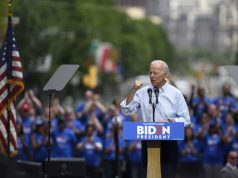 PHILADELPHIA, May 19, 2019 (Xinhua) -- Former U.S. Vice President Joe Biden speaks during a rally in Philadelphia May 18, 2019. Joe Biden on Saturday kicked off his running campaign for the 2020 presidential election in Philadelphia. (Xinhua/Liu Jie/IANS) by .