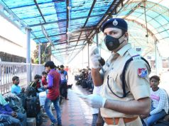Mumbai: Thousands of migrant workers try to rush home to various states like UP, Bihar, Odisha, Jharkhand, Chhattisgarh, etc, in view of the growing number of coronavirus (Covid-19) cases, and are guided by Railway Protection Force staff at Chhatrapati Shivaji Maharaj Terminus, in Mumbai March 21, 2020. The total number of coronavirus cases in Maharashtra shoot up to 63 on Saturday, with 11 new cases detected overnight among several foreign-returned persons. (Photo: IANS) by .