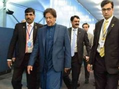 Pakistan Prime Minister Imran Khan arrives at Islmabad airport. by .