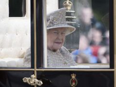 LONDON, June 8, 2019 (Xinhua) -- Britain's Queen Elizabeth II departs from Buckingham Palace during the Trooping the Colour ceremony to mark her 93rd birthday in London, Britain, on June 8, 2019. Queen Elizabeth celebrated her official 93rd birthday in London Saturday, with a family gathering on the balcony at Buckingham Palace. (Xinhua/Ray Tang/IANS/IANS/IANS) by .