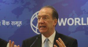 New Delhi: World Bank President David Malpass addresses a press conference in New Delhi on Oct 26, 2019. (Photo: IANS) by .
