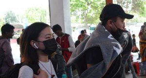 Bengaluru: People wear masks at Bengaluru City Railway Station as a precautionary measure against Coronavirus, in Bengaluru on March 11, 2020. (Photo: IANS) by .