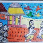 Awareness on COVID-19 through Madhubani paintings. by .