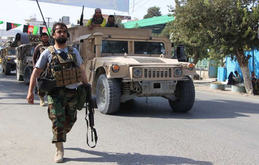 KUNDUZ, Aug. 31, 2019 (Xinhua) -- Afghan national army soldiers take part in an operation against Taliban militants in Kunduz city, Afghanistan, Aug. 31, 2019. At least two Afghan security forces and 15 Taliban militants were killed as the Afghan security forces repulsed a Taliban attack on Kunduz city, capital of northern Kunduz province, on Saturday, a provincial government spokesman said. (Photo by Ajmal Kakar/Xinhua/IANS) by .