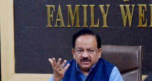 New Delhi: Union Health Minister Harsh Vardhan addresses a press conference on the updates and preparedness on Coronavirus (COVID-19), in New Delhi on March 4, 2020. (Photo: IANS/PIB) by .