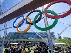 LAUSANNE, June 23, 2019 (Xinhua) -- Guest are seen in front of the Olympic House, the new headquarters of the International Olympic Committee (IOC), in Lausanne, Switzerland, June 23, 2019. (Xinhua/POOL/Fabrice Coffrini/IANS) by .