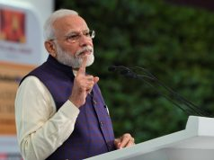 New Delhi: Prime Minister Narendra Modi delivers the inaugural address at the Hindustan Times Leadership Summit 2019 in New Delhi on Dec 6, 2019. (Photo: IANS/PIB) by .