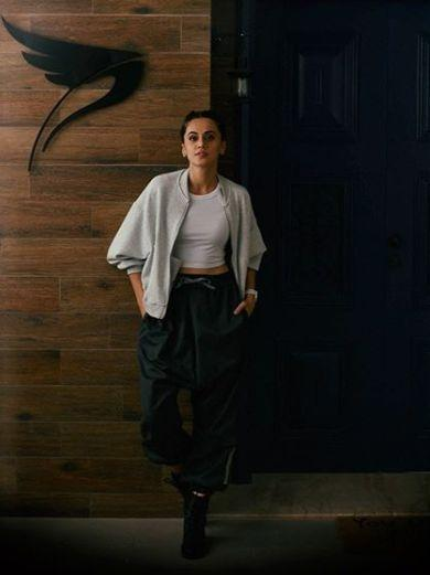 Taapsee: Wanted a logo instead of a name plate to keep the ambition flying high by .