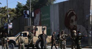 KABUL, Sept. 17, 2019 (Xinhua) -- Afghan security force members stand guard near the site of a bomb explosion in Kabul, capital of Afghanistan, Sept. 17, 2019. An explosion rocked Police District 9 in the Afghan capital of Kabul on Tuesday leaving 16 people dead and wounding more than 20 others, spokesman for Interior Ministry Nasrat Rahimi said. (Xinhua/Rahmatullah Alizadah/IANS) by .