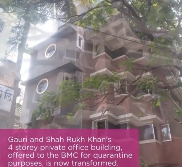 Here's how SRK-Gauri's office turned into quarantine facility. by .