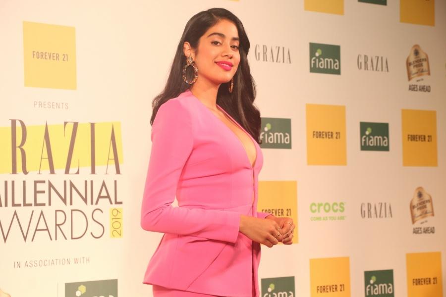 Mumbai: Actress Janhvi Kapoor at the Grazia Millennial Award 2019, in Mumbai, on June 19, 2019. (Photo: IANS) by .