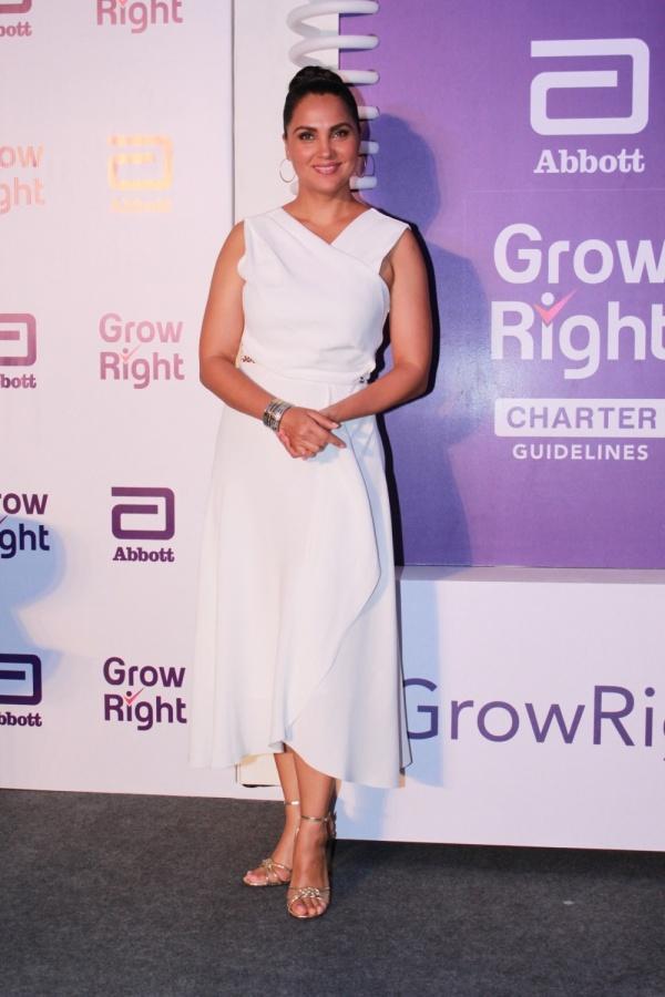 "Mumbai: Actress Lara Dutta at the launch of ""Grow Right"" campaign in Mumbai, on July 30, 2019. (Photo: IANS) by ."
