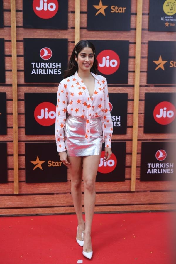 Mumbai: Actress Janhvi Kapoor at the red carpet of Jio MAMI Mumbai Film Festival, in Mumbai on Oct 13, 2019. (Photo: IANS) by .