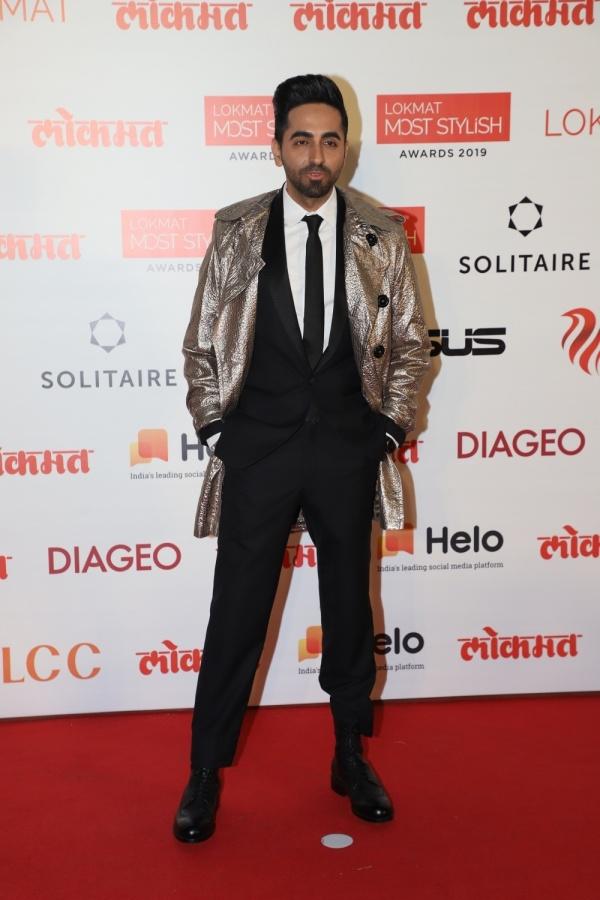 Mumbai: Actor Ayushmann Khurrana at the Red Carpet of 4th Lokmat Most Stylish Awards in Mumbai on Dec 18, 2019. (Photo: IANS) by .