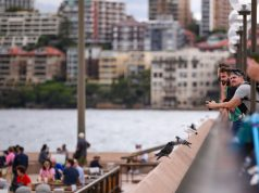 Sydney, March 10, 2020 (Xinhua) -- Tourists are seen at a dock in Sydney, Australia, March 10, 2020. The number of confirmed COVID-19 cases in Australia has reached 100, Federal Health Minister Greg Hunt announced on Tuesday. (Xinhua/Bai Xuefei/IANS) by .