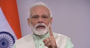 New Delhi: Prime Minister Narendra Modi message to the nation on the fight against corona, in New Delhi, on Apr 3, 2020. (Photo: IANS/BJP) by .