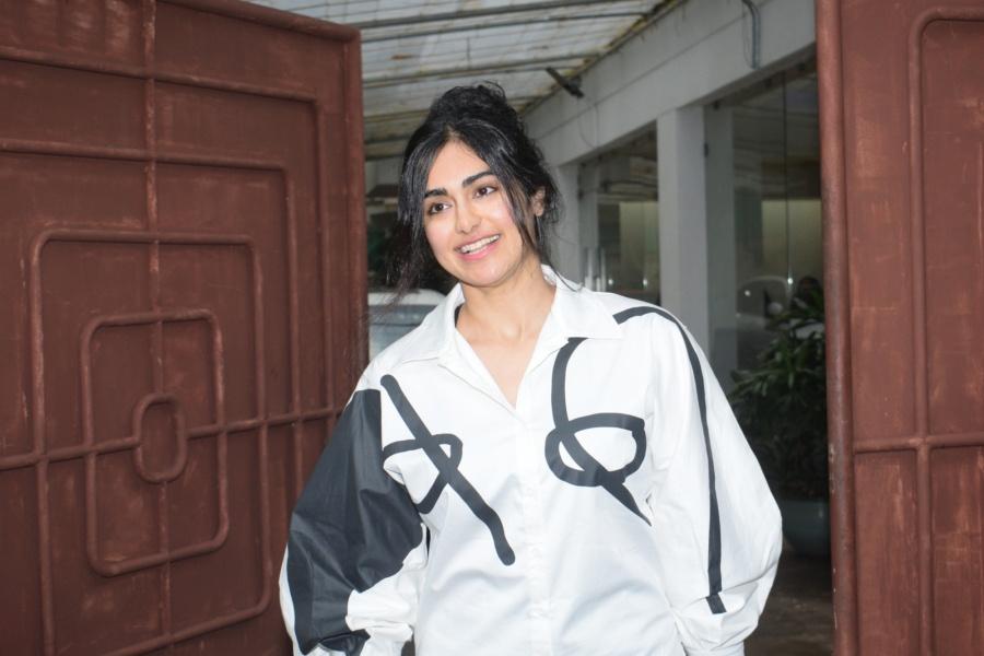 Mumbai: Actress Adah Sharma seen at a recording studio in Mumbai's Juhu on July 3, 2019. (Photo: IANS) by .
