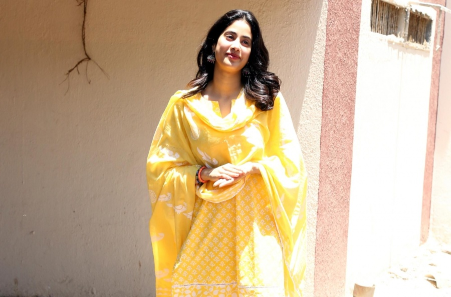 Mumbai: Actress Janhvi Kapoor seen in Mumbai's Bandra, on April 23, 2019. (Photo: IANS) by .