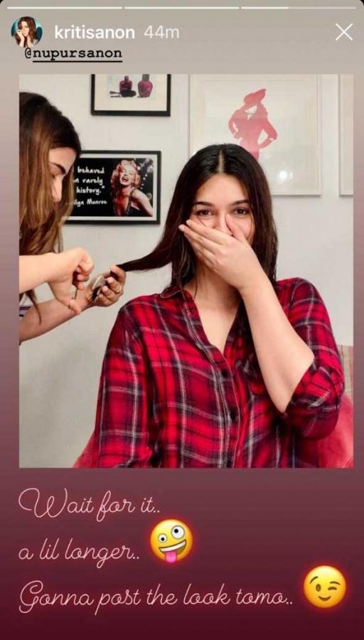 Kriti Sanon gets 'quarantine' haircut from sister Nupur. by .