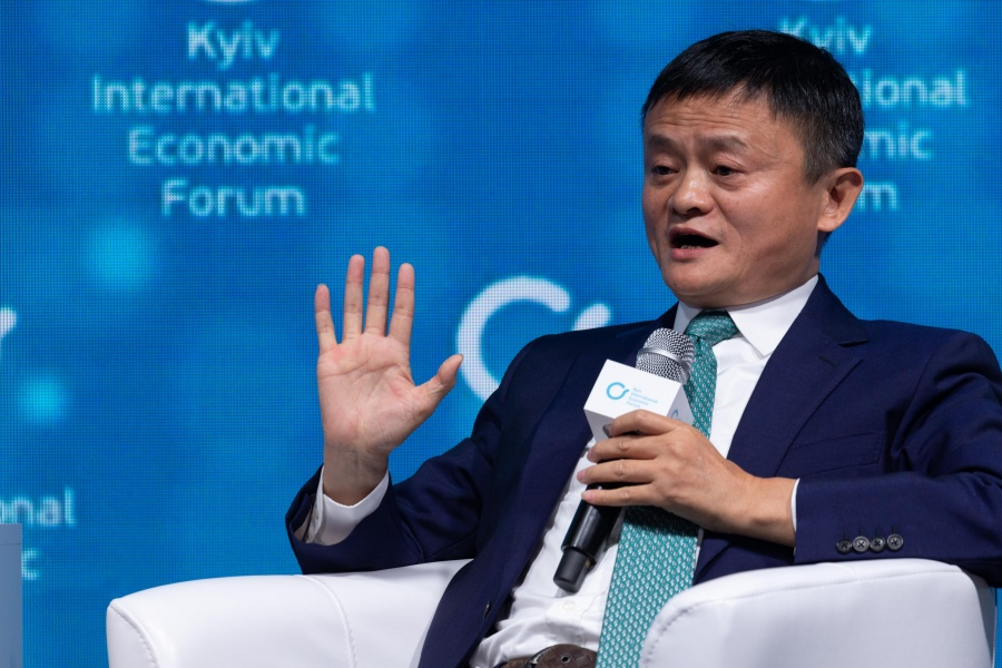 KIEV, Nov. 9, 2019 (Xinhua) -- Jack Ma, founder of China's Internet giant Alibaba, speaks at the Kiev International Economic Forum (KIEF) in Kiev, Ukraine, on Nov. 8, 2019. Electronic commerce holds great promise for strengthening ties between China and Ukraine, said Jack Ma at the KIEF on Friday. (Xinhua/Bai Xueqi/IANS) by .