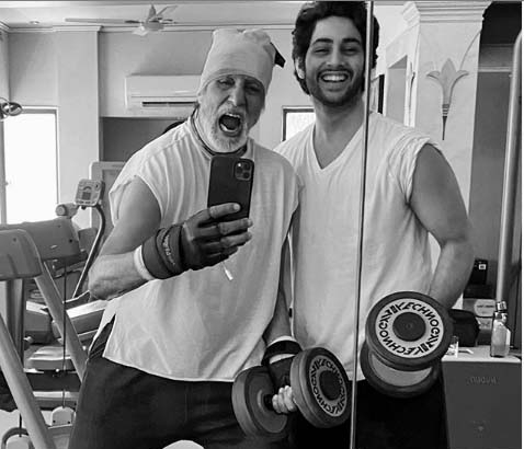 Big B sweats it out with grandson Agastya Nanda. by .