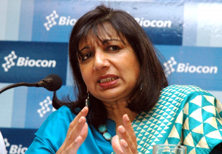 Biocon chairman and managing director Kiran Mazumdar. by .