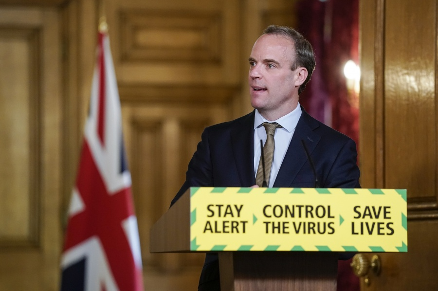 Dominic Raab Digital Covid-19 Press Conference 18/05 by .