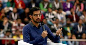 New Delhi: Google CEO Sundar Pichai during a programme at Sri Ram College of Commerce (SRCC) in New Delhi, on Dec 17, 2015. (File Photo: Sunil Majumdar/IANS) by .