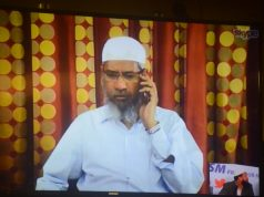 Mumbai: Controversial Islamic preacher Zakir Naik addresses a press conference through Skype in Mumbai, on July 15, 2016. (Photo: IANS) by .