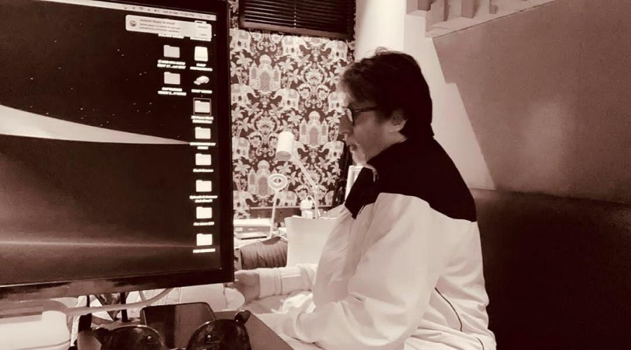 Big B's 'laptop went into a lockdown'!. by .