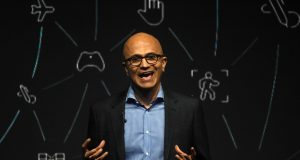 Mumbai: Microsoft CEO Satya Nadella addresses during the Microsoft CEO Summit in Mumbai on Feb 24, 2020. (Photo: IANS) by .