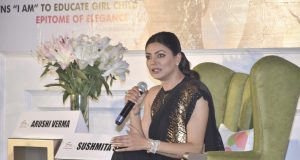Amritsar: Actress Sushmita Sen during an interactive session organised by FICCI Ladies Organisation (FLO) on the occasion of Mother's Day, in Amritsar on May 11, 2019. (Photo: IANS) by .