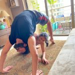 Rajniesh Duggal celebrates Yoga Day with daughter. by .