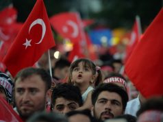 ANKARA, July 16, 2018 (Xinhua) -- People attend a commemoration event marking the second anniversary of the defeated failed coup in 2016 in Ankara, Turkey, July 15, 2018. (Xinhua/Mustafa Kaya/IANS) by .