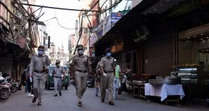 New Delhi: Security beefed up near Jama Masjid during Eid-Ul-Fitr celebrations in Delhi amid the fourth phase of the nationwide lockdown imposed to mitigate the spread of coronavirus, in Delhi on May 25, 2020. (Photo: IANS) by .