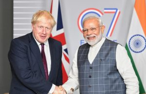 Biarritz: Prime Minister Narendra Modi meets the Prime Minister of the United Kingdom, Boris Johnson on the sidelines of the G7 Summit in Biarritz, France on Aug 25, 2019. (Photo: IANS/PIB) by .