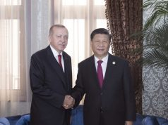DUSHANBE, June 15, 2019 (Xinhua) -- Chinese President Xi Jinping (R) meets with his Turkish counterpart Recep Tayyip Erdogan in Dushanbe, Tajikistan, June 15, 2019. (Xinhua/Wang Ye/IANS) by .