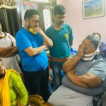Patna: Jan Adhikar Party Chief Pappu Yadav meets grief stricken relatives of actor Sushant Singh Rajput who committing suicide at his residence in Mumbai; at Rajiv Nagar colony in Patna on June 14, 2020. (Photo: IANS) by .