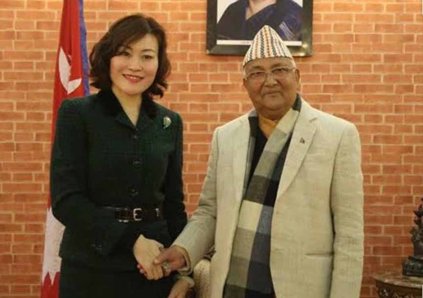 """Chinese lady diplomat """"inspired"""" PM Oli to redraw Nepal map. by ."""