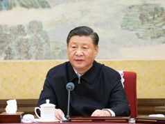 "BEIJING, Dec. 27, 2019 (Xinhua) -- Xi Jinping, general secretary of the Communist Party of China (CPC) Central Committee, presides over a meeting convened by the Political Bureau of the CPC Central Committee and delivers an important speech. The meeting themed ""staying true to our founding mission"" was held from Thursday to Friday. (Xinhua/Li Xueren/IANS) by ."
